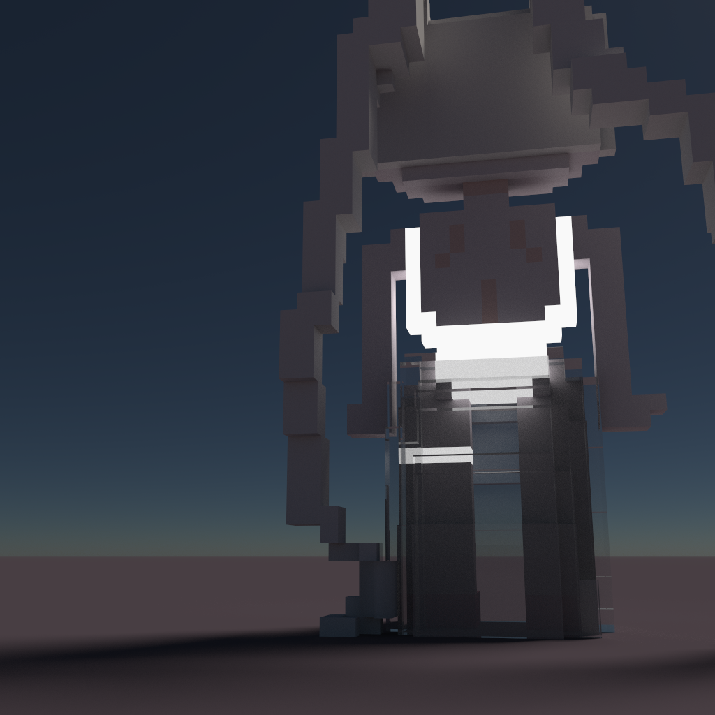 love at first sight voxel art