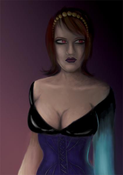 Digital paint Ursula villainess